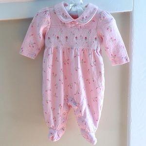 🆕 Laura Ashley Pink Smocked Rosebud Outfit